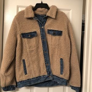 denim sherpa jacket from forever 21
